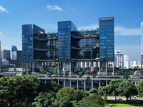 LUXURY SKYLINE MODERN ARCHITECT CONCEPT DESIGN # Parkroyal on Pickering SINGAPORE