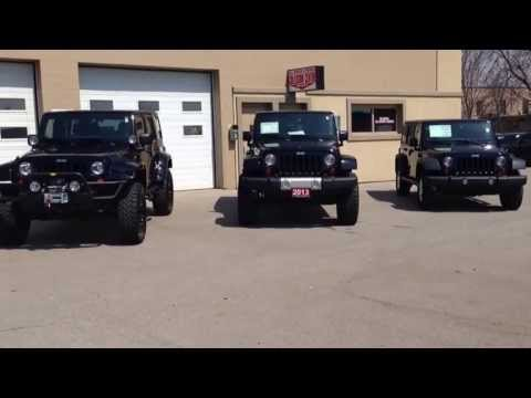 Lifted 2013 Unlimited Wranglers Compared to Stock Sport  MacIver