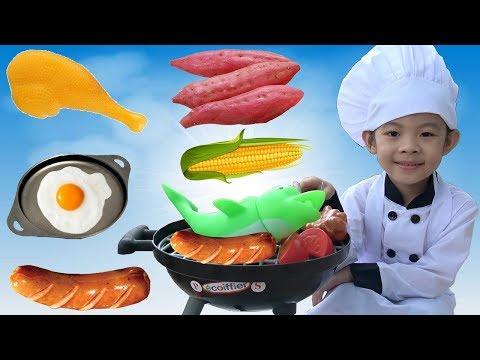 Trò Chơi Bé Tập Nấu Ăn Và Làm Đầu Bếp Trưởng ❤ AnAn ToysReview TV ❤