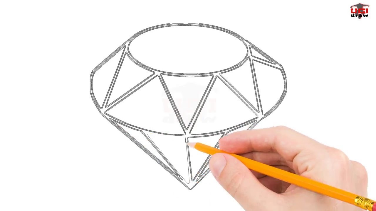 This is a photo of Unusual Drawing Of Diamonds