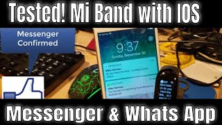 WhatsApp, Facebook & Messenger with IOS and the Mi Band 3 - Tested!