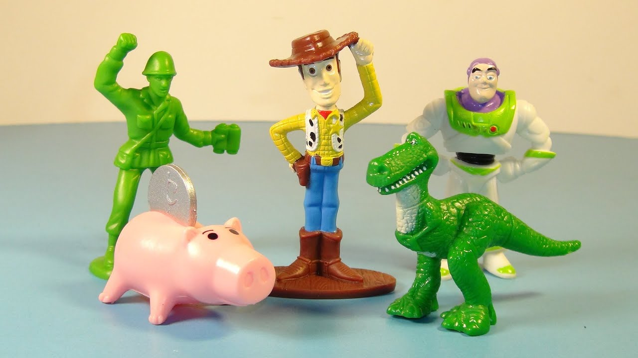 Toy Story Figurines : Disney s toy story general mills cereal set of mini