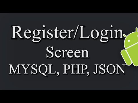 Login/Register Screen In Android Using MYSQL, PHP, JSON PART 2/2