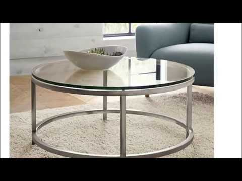 Mesmerizing Glass Top Coffee Tables With Metal Base