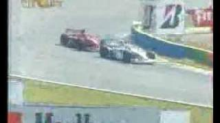 Formula 1 - 1999 - Brasil - Rubens Barrichello vs Eddie Irvine for 3rd place