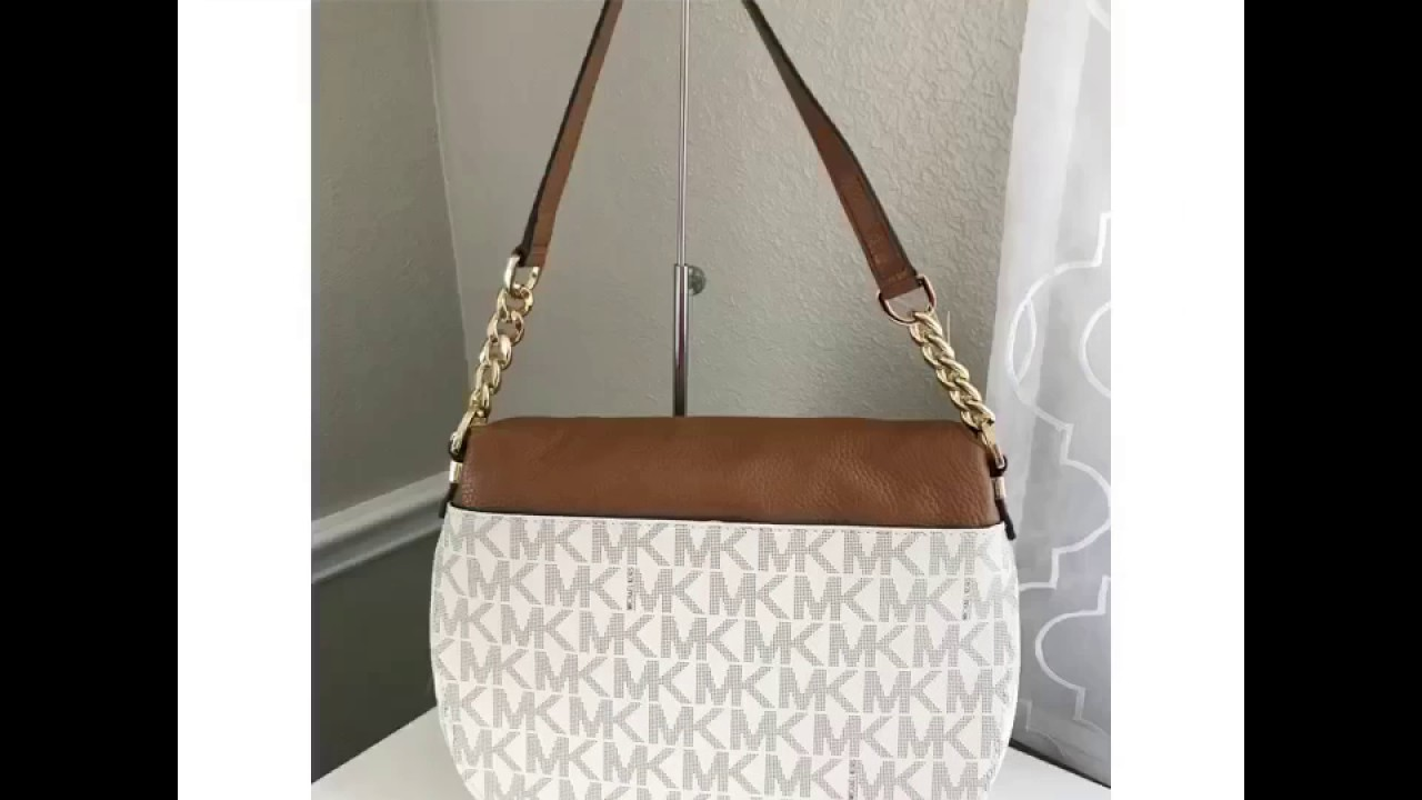 23e875d380e6 MICHAEL KORS BEDFORD TASSLE MEDIUM CONVERTIBLE IN PVC SIGNATURE CANVASS - VANILLA