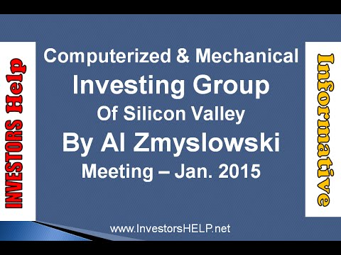 Computerized & Mechanical Investing Group [Jan.  2015]