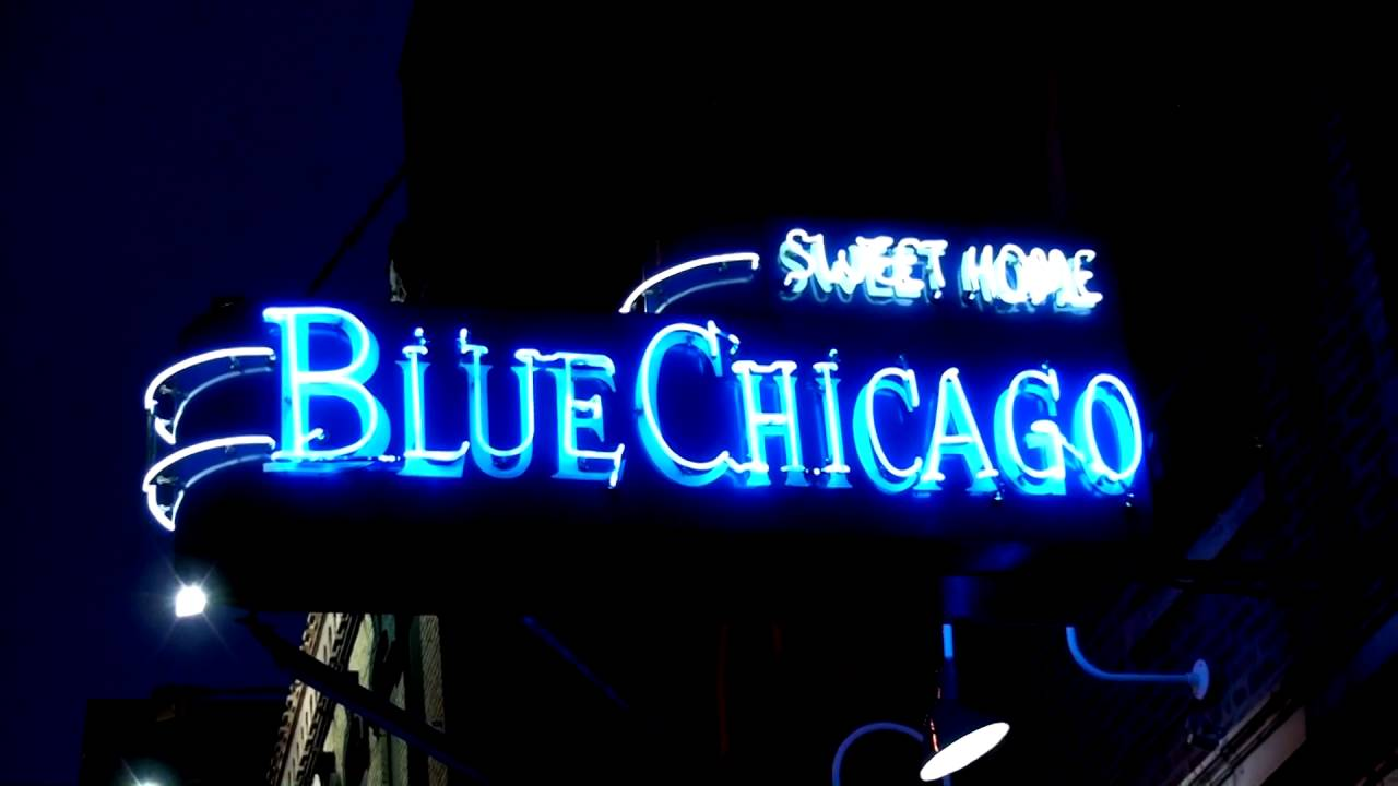 Blue Chicago Cool Neon Sign &