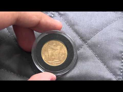 French Gold Lucky Angel Coin