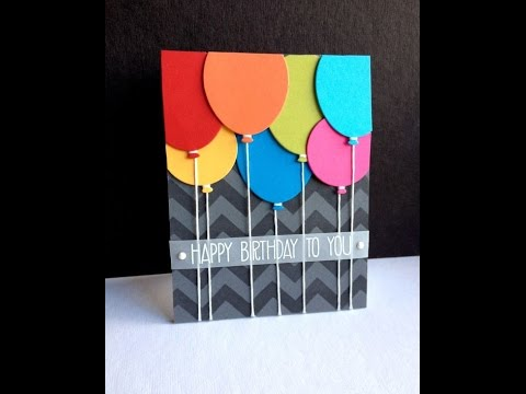 Handmade Birthday Card Idea 1 Youtube