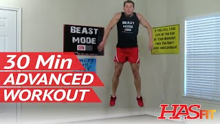 30 Min Destruction Advanced Workout - HASfit Hard Workout - Advanced Exercises - Intensity Exercise