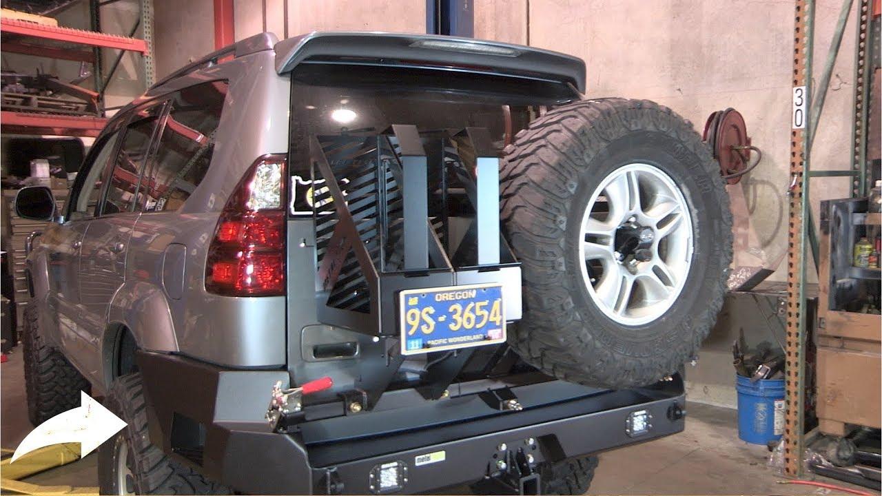 bumper gx470 lexus rear metal tech swing pegasus