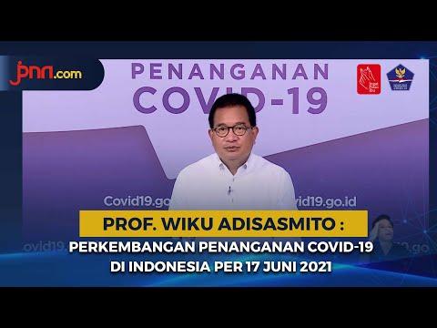 Perkembangan Penanganan COVID-19 di Indonesia per 17 Juni 2021
