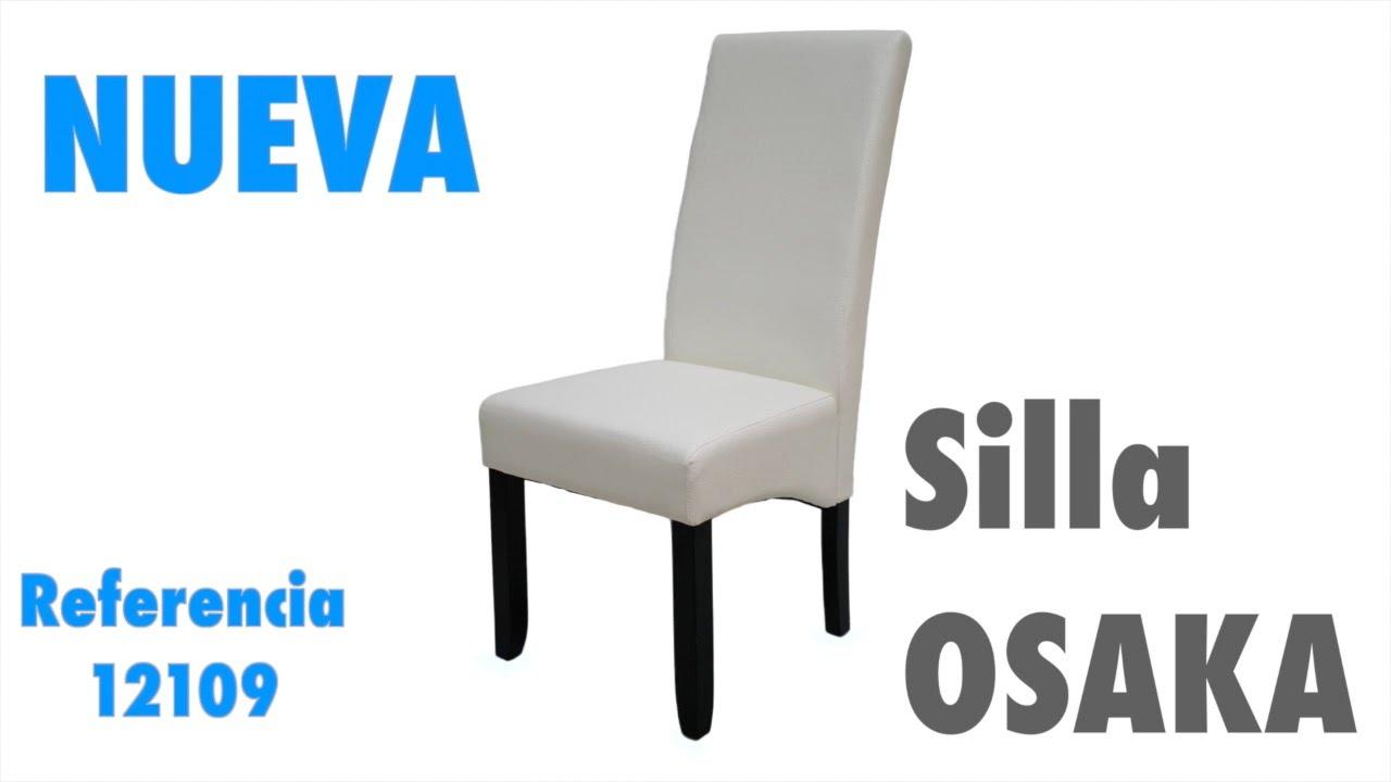 Nueva silla blanca Osaka, tapizado polipiel blanco de salón comedor ...