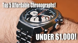 5 Affordable Chronographs You Need To Know About