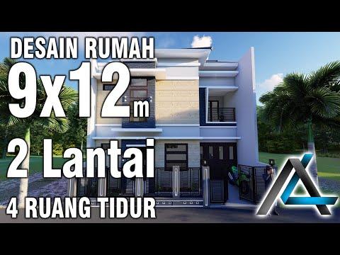 Rumah Minimalis 2 Lantai Ukuran 9x12  desain rumah 9x12 meter jasadesain jasaarsitek kontraktor