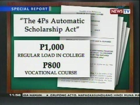 College scholarship sa beneficiaries ng Pantawid Pamilyang Pilipino Program, ipinapanukala