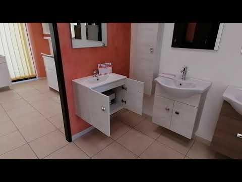 Mobile bagno sospeso larghezza 50 x 36 cm. effetto rovere sbiancato