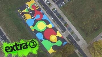 Realer Irrsinn: Parkplatz-Kunst in Osnabrück | extra 3 | NDR