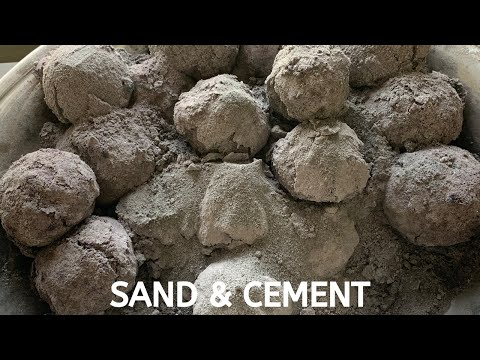 ASMR~ Sand and Cement Water Crumble