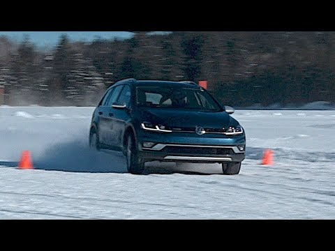 vw golf alltrack in the snow youtube. Black Bedroom Furniture Sets. Home Design Ideas