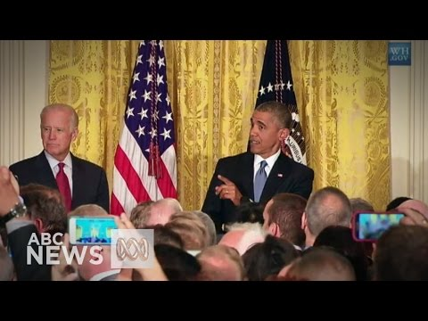 Obama shuts down heckler at White House