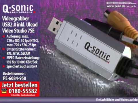 q sonic usb videograbber mit software f r schnelles vhs digitalisieren youtube. Black Bedroom Furniture Sets. Home Design Ideas