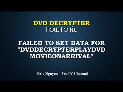"DVD Decrypter - How to fix error: Failed to set data for ""DVDDecrypterPlayMovieOnArrial"""