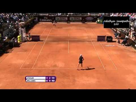V Williams vs Stosur 2012 Rome Highlights