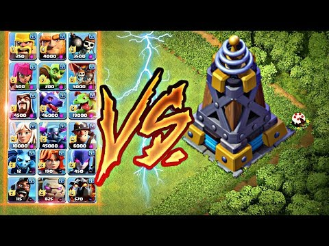 Mega Tesla Vs All Troops 😠 || No Limits ||