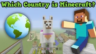 Which COUNTRY Is Minecraft? Real World vs Minecraft!