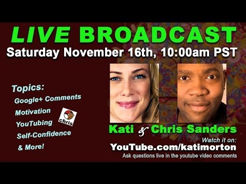 LIVE BROADCAST: Hangout With Chris Sanders and Kati Morton  Mental Health Videos