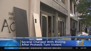 Several Charged With Rioting After Protests Turn Violent In New York City