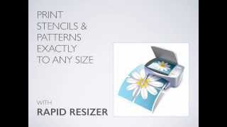 Print Stencils & Patterns Exactly To Any Size: Easily Enlarge And Resize
