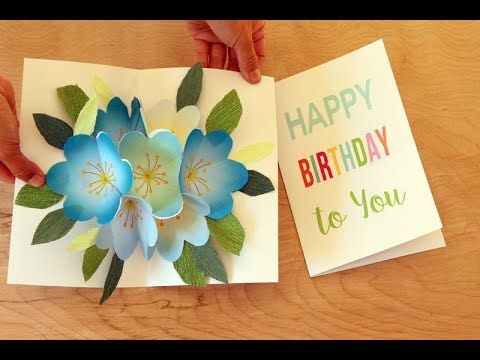 Pop Up Bouquet Easy Diy Birthday Card And Mothers Day Card With