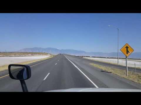 BigRigTravels - Grantsville to Toole, Utah Interstate 80 by the Great Salt Lake August 3, 2016