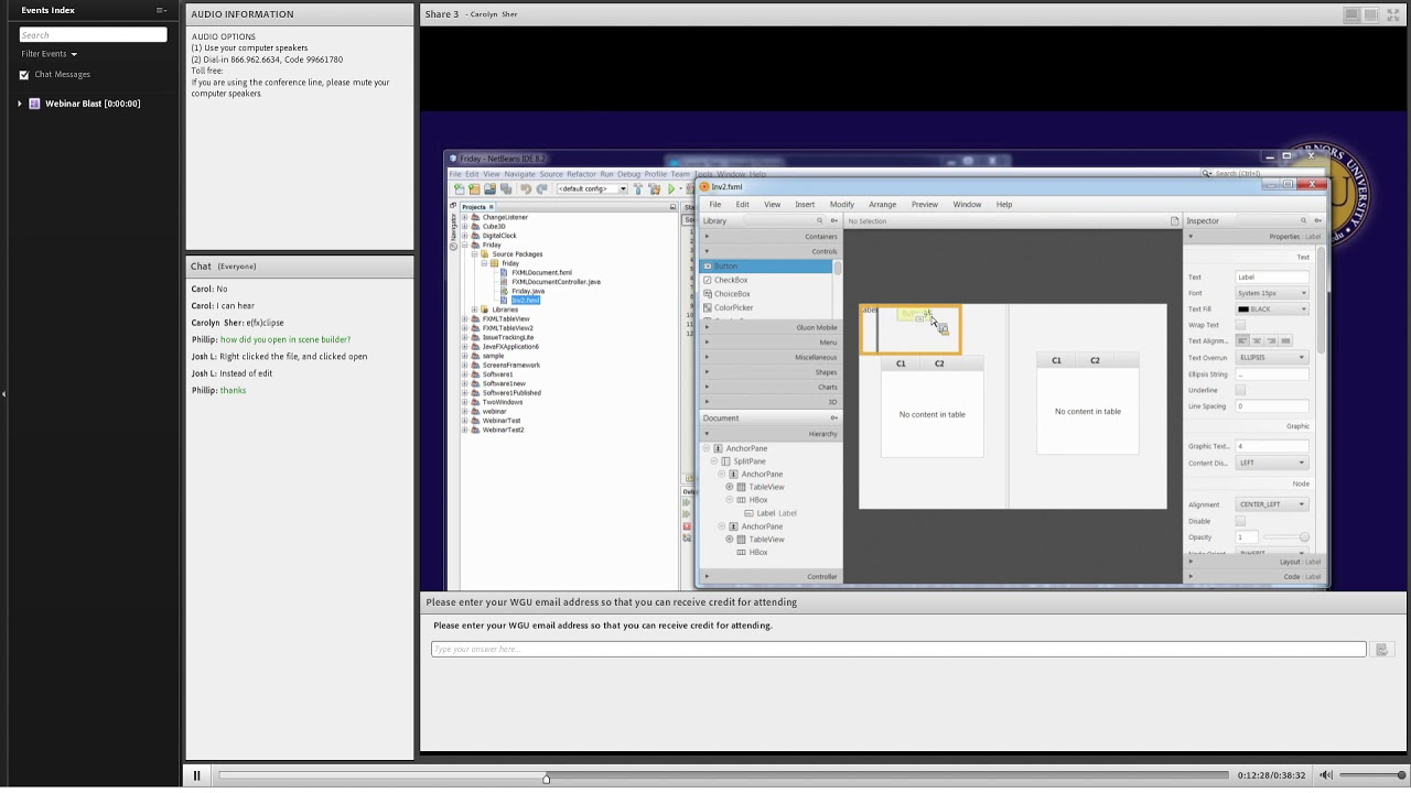 WGU C482 Software 1 Web Blast Video