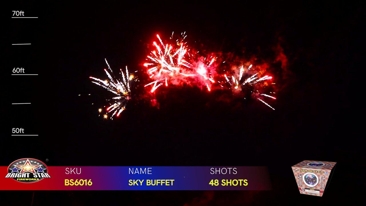 SKY BUFFET BS6016 BRIGHT STAR FIREWORKS 2022 NEW ITEMS