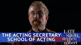 The Acting Secretary School Of Acting: Back In Session