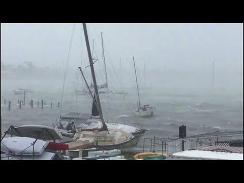 Hurricane Irma lashes Miami Yacht Club