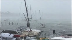 Hurricane Irma lashes Miami Yacht Club