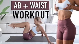 ABS and WAIST HOME WORKOUT   10 minutes, NO EQUIPMENT