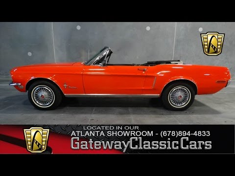 1968 Ford Mustang Convertible - Atlanta Showroom -  Stock # 27