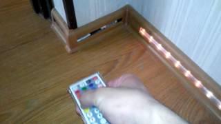 Светодиодная  лента в напольный плинтус, led подсветка своими руками