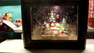 LED 크리스마스 액자 오르골 워터볼(눈사람)