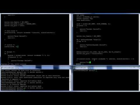 C Programming in Linux Tutorial #034 - Socket Programming