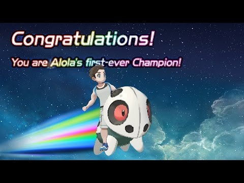 Defeating Professor Kukui with Only Level 1 Aron!