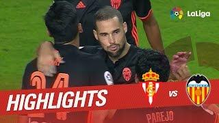 Video Gol Pertandingan Sporting Gijon vs Valencia CF