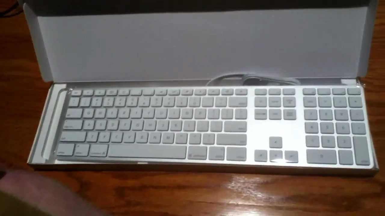 apple wired keyboard unboxing youtube. Black Bedroom Furniture Sets. Home Design Ideas