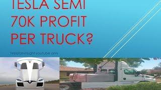 Tesla 2170 semi truck JB Straubel four Model S,  profit per truck 70,000? stock to 3000